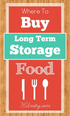 Where To Buy Long Term Storage Food
