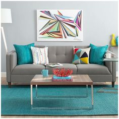 sofa color and fun look