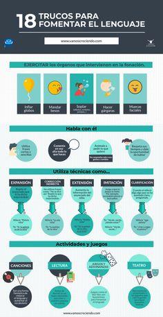 18 trucos para fomentar el lenguaje. Infográfico - Vamos CreciendoVamos Creciendo