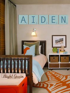 Boys Room Decor - Custom Kids Name Artwork