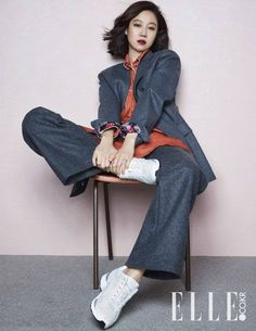 Actress Gong Hyo Jin is a total fashionista in her latest solo pictorial with 'Elle Korea'!She