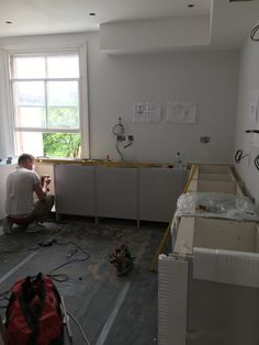 Kitchen being fitted
