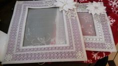 Needlepoint  &Plastic  Frame Or Photo  Album  Cover Lot of 2 #Unbranded