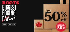 Roots Canada Boxing Day Sale Starts Now: Save Up to 50% Off Sale  Extra 20% Off http://www.lavahotdeals.com/ca/cheap/roots-canada-boxing-day-sale-starts-save-50/157496?utm_source=pinterest&utm_medium=rss&utm_campaign=at_lavahotdeals