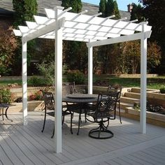 The Dura-Trel Kingston 7 x 7 ft. Vinyl Pergola will create a defined space for entertaining and relaxing outdoors. Crafted of the highest-quality, maintenance-f
