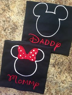 Mom/Dad Mickey Mouse or Minnie Mouse Shirt by IrresistiblEmbroider