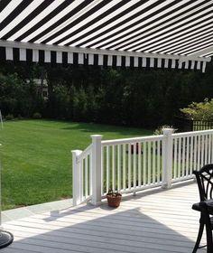 Black & White backyard awning http://www.awningresources.com/Default.aspx