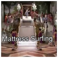 Bucket list - Mattress Surfing like a Queen #PrincessDiaries