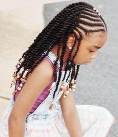 Braids For Black Kids, Kids Braids With Beads, Little Girl Braids, Black Girl Braids, Braids For Kids, Braids For Black Hair, Braids Easy, Black Kids Braids Hairstyles, Lil Girl Hairstyles