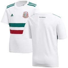 36d16547b9b Mexico National Team adidas Youth 2018 Away Replica Blank Jersey – White /Green