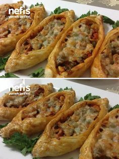 Pratik Mini Milföy Pide (Tavuklu Kaşarlı) – Nefis Yemek Tarifleri Practical Mini Puff Pastry Pita (Chicken Cheese) # In pratikminimilföypi the the Pizza Recipes, Appetizer Recipes, Dinner Recipes, Appetizers, Yummy Recipes, Puff Pastry Chicken, Pizza Pastry, Turkish Recipes, Ethnic Recipes