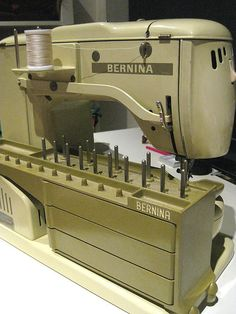 Vintage Bernina!  My first sewing machine.  I couldn't even part with it when I got my new machine!