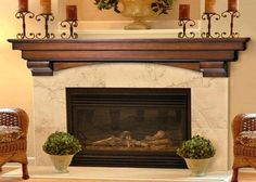 Auburn Fireplace Mantel Decor With Candles Above Shelf, fireplace mantels wood, wood fireplace mantels ~ Home Design Fireplace Mantel Surrounds, Wood Fireplace Mantel, Build A Fireplace, Candles In Fireplace, Fireplace Shelves, Wood Mantels, Mantel Shelf, Home Fireplace, Fireplace Design