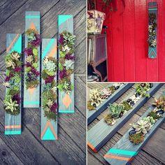 #upcycled #verticalplanters #succulents #diy