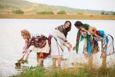 Pretty Moldovan women. (Republic of Moldova, Eastern Europe)