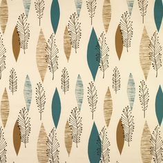 LUPIN 21 TEAL AND MUSTARD    A stylish print combining organic and geometric forms inspired by textiles from the 1950s.  Contains Colours: Blue, Taupe, Black    Fabric Construction: 100% Cotton Satin    Fabric Width: 137cms (54 inches)    Pattern Repeat: 63cms (25 inches)