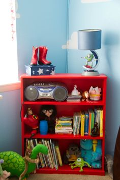 Colorful Disney And Toy Story Inspired Bedroom U0026 Play Room   Barrel Of  Monkeys, Toy Story And Barrels