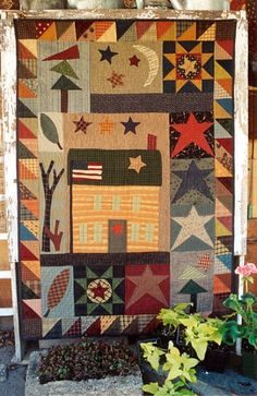 Country Threads :: House Quilt Patterns :: Log Cabin Retreat Quilt Pattern