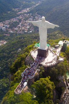 Christ the Redeemer statue on top of Corcovado mountain. Rio de Janeiro, Brazil
