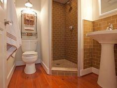 Bathroom layout for 5x5 bath: