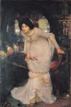 John William Waterhouse: The Lady of Shalott Looking at Lancelot 1894