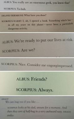 Scorpius is a smol bean and must be protected at all costs