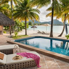 Polynesian Bora Bora looks pretty much like paradise, and the St. Regis Bora Bora offers luxurious, exclusive accommodations for the trip of a lifetime. Bora Bora Resorts, Tahiti Vacations, Best Honeymoon Locations, Best Honeymoon Resorts, Honeymoon Destinations, Holiday Destinations, Beach Hotels, Hotels And Resorts, Bora Bora French Polynesia