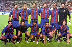 Belleti, Larsson, Gerard, Oleguer, Ronaldinho, Valdés, Xavi, Sylvinho, Deco, Giuly i Puyol