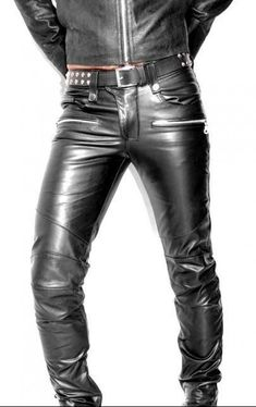 Men/'s Real Leather Bikers Pants Quilted /& Contrast Leather Piping Bikers Pants