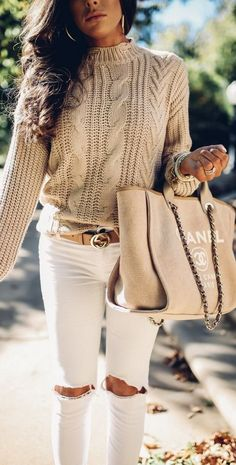 all fashion 2017, cute fall outfits pinterest, fall outfits with white pants pinterest, emily ann gemma blog, the sweetest thing blog, cable knit sweater and jeans outfit fall fashion, cute thanksgiving outfit ideas,