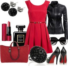 """red dress pleated"" by cristinacordeiro ❤ liked on Polyvore"