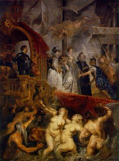 Rubens, Peter Paul (1577-1640) - 1622-26 The Arrival of Marie de Medici at Marseilles (Louvre)