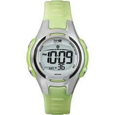 Timex Women's T5K081 1440 Sports Digital Light Green Resin Strap Watch