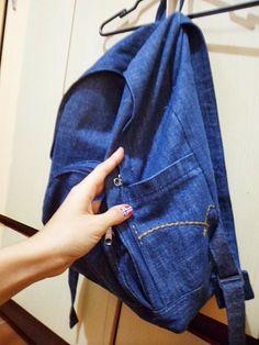 Pequenas Coisas: Mochila de Calça Jeans