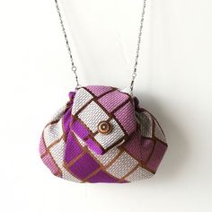 Up-cycled Bag Made From A Vintage Tie