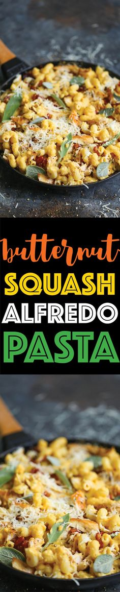 Butternut Squash Alfredo Pasta - Is there anything more cozy in the middle of Fall? And this alfredo sauce is made completely FROM SCRATCH in less than 30! @DairyGood #ad #UndeniablyDairy