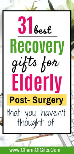 These are some of the best gifts you can take for an elderly parent or grandparent recovering after surgery. Whether you were looking for a hospital gift or nursing home gift these ideas are really useful. #elderlygift #elderlyparentgift #nursinghomegift