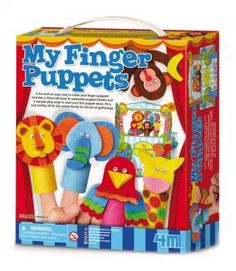 A fun and easy way to make your finger puppets! Includes a 30 cm tall easy-to-assemble puppet theatre and a sample play script to start your first puppet show! It's a cool activity kit for the whole family for all sorts of gatherings.
