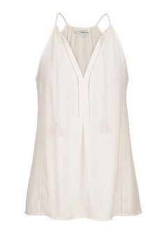chiffon tank with open stitch detail and ties (original price, $26) available at #Maurices