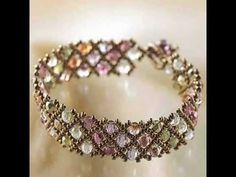 Create Your Own DIY Miyuki Glass Bead Bracelet Kit - Woven Net Pattern Best Price - YouTube