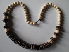 1 Halskette aus Brasilien Hippie Goa Schmuck nr.16  Samen Kokos Kette