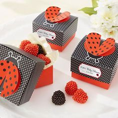 Personalized 3-D Wing Ladybug Favor Boxes by Beau-coup