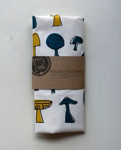 Yours is the Earth Mushroom Lovelies Tea Towel