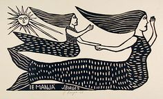 Sereia do mar. J Borges (****I have a Pin in color as well of this illustration.)