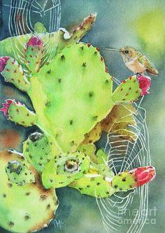 Prickly Pair Painting  - Prickly Pair Fine Art Print