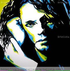 Portrait of Michael by Mexican artist Juan Carlos Caballero Ortiz..