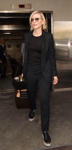 Cate Blanchett arrives in L A - 13 June 2016