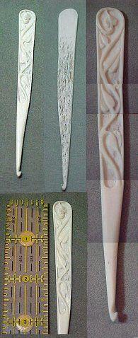 haakpennen in ivoor - Hooks.