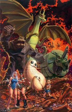 Herculoids by Dan Brereton Cartoon Kunst, Comic Kunst, Cartoon Tv, Cartoon Shows, Cartoon Characters, Comic Art, Comics Und Cartoons, Old School Cartoons, Famous Cartoons