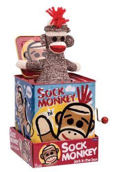 Sock Monkey Jack in the Box Schylling,http://www.amazon.com/dp/B0013J2JW4/ref=cm_sw_r_pi_dp_HkQHsb0AW08B8X50 Who doesn't love a sock monkey?
